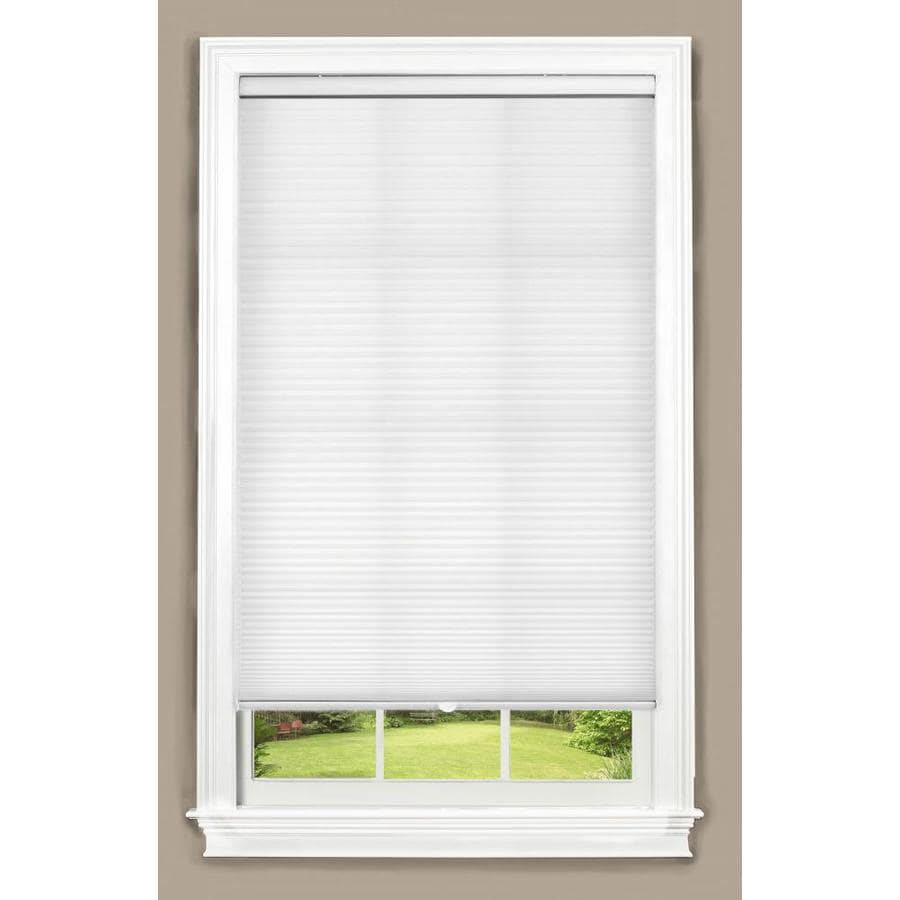 allen + roth White Light Filtering Cordless Polyester Cellular Shade (Common: 58-in; Actual: 58-in x 64-in)