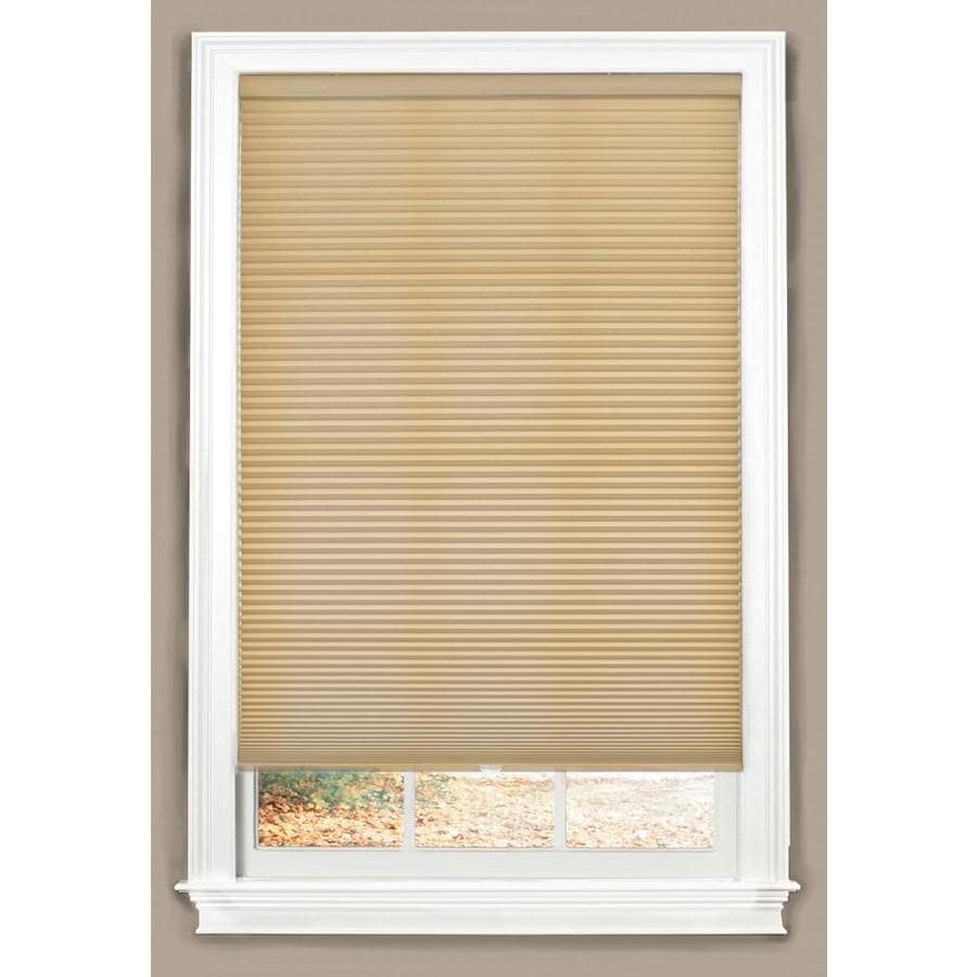 allen + roth Linen Light Filtering Cordless Polyester Cellular Shade (Common 58.0-in; Actual: 58.0-in x 64.0-in)
