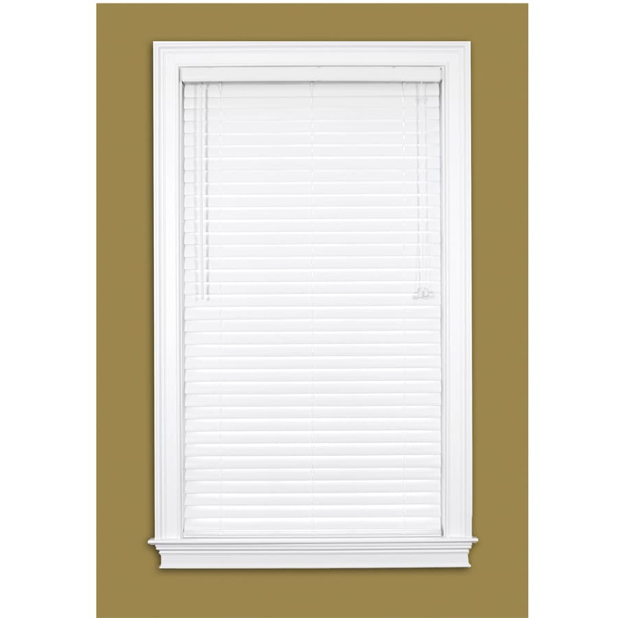 Style Selections 2-in White Vinyl Room Darkening Horizontal Blinds (Common 70-in; Actual: 69.5-in x 64-in)