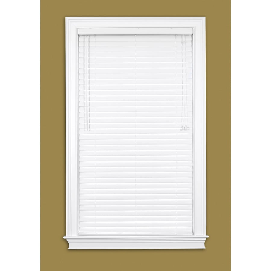 Style Selections 2.0-in White Vinyl Room Darkening Horizontal Blinds (Common 45.0-in; Actual: 44.5-in x 64.0-in)