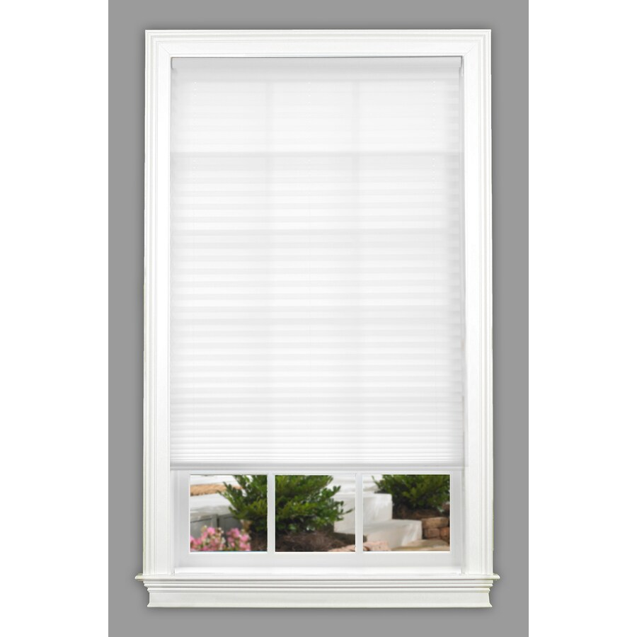 allen + roth 31-in W x 64-in L White Light Filtering Pleated Shade