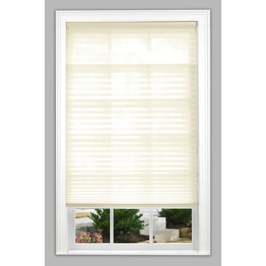 allen + roth 36-in W x 64-in L Ecru Light Filtering Pleated Shade