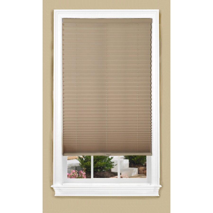 allen + roth 23-in W x 72-in L Camel Light Filtering Pleated Shade