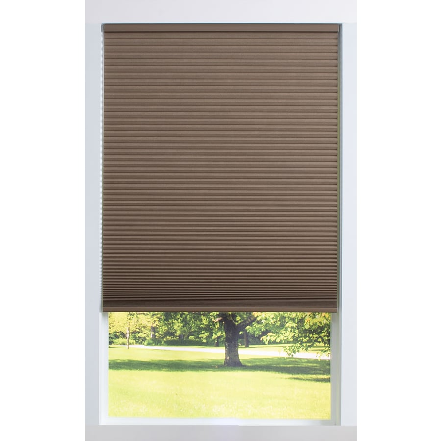 allen + roth 44-in W x 64-in L Linen Blackout Cellular Shade