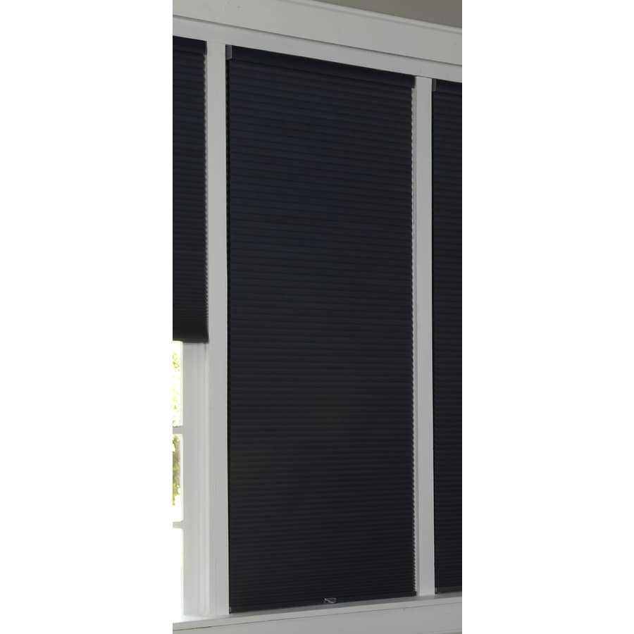 allen + roth 64-in L Deep Blue Blackout Cellular Shade