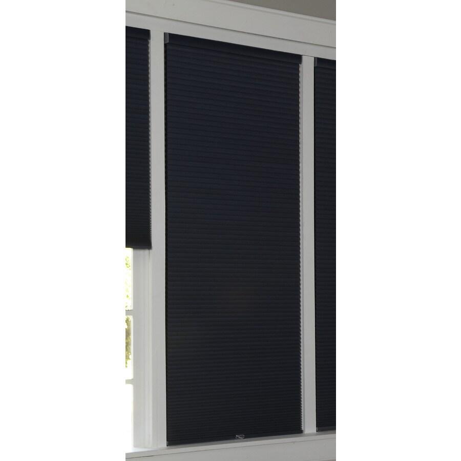 allen + roth 64-in L Deep Blue Blackout Cellular Shade