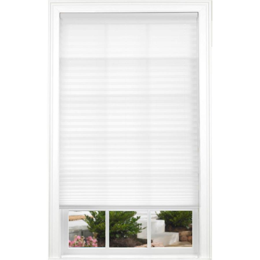 allen + roth White Light Filtering Cordless Polyester Pleated Shade (Common 32.0-in; Actual: 32.0-in x 72.0-in)
