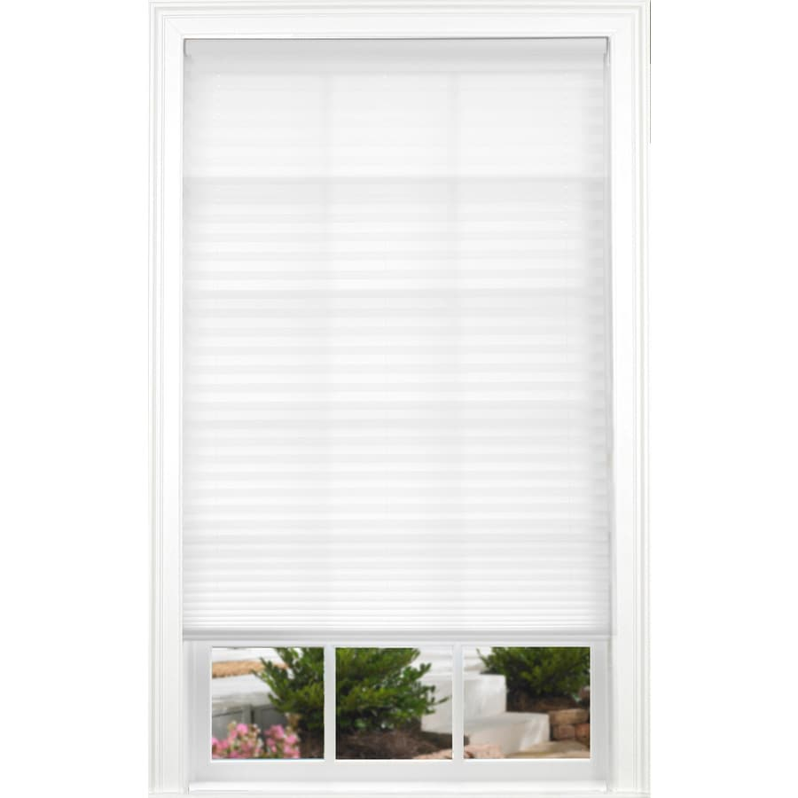 allen + roth White Light Filtering Cordless Polyester Pleated Shade (Common 34.0-in; Actual: 34.0-in x 72.0-in)