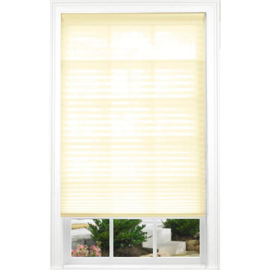allen + roth Ecru Light Filtering Cordless Polyester Pleated Shade (Common 27-in; Actual: 27-in x 72-in)