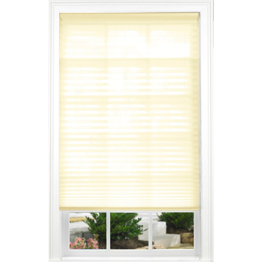 allen + roth Ecru Light Filtering Cordless Polyester Pleated Shade (Common 30.0-in; Actual: 30.0-in x 72.0-in)