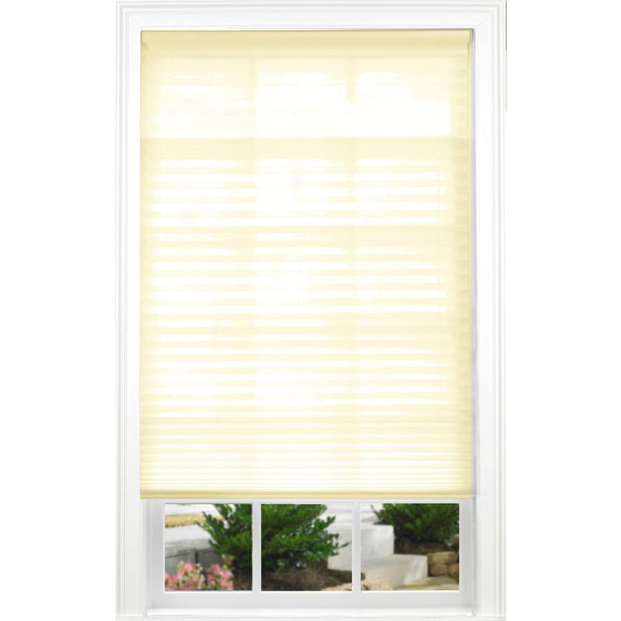 allen + roth Ecru Light Filtering Cordless Polyester Pleated Shade (Common 34.0-in; Actual: 34.0-in x 72.0-in)