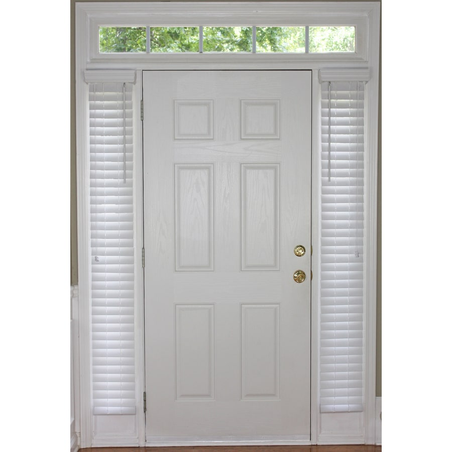 Style Selections 2-in White Faux Wood Room Darkening Plantation Blinds (Common 9-in; Actual: 8.5-in x 72-in)