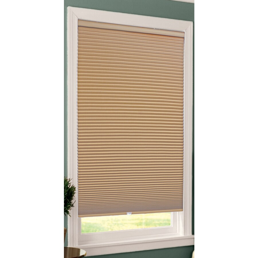 Shop allen roth khaki blackout cordless polyester for Smart window shades