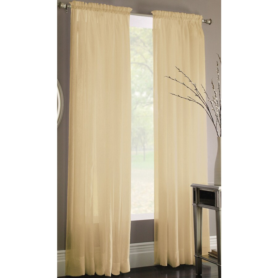 Style Selections Chloe 84-in Linen Polyester Rod Pocket Light Filtering Sheer Single Curtain Panel
