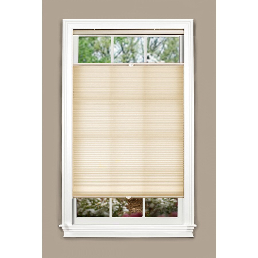 allen + roth 57-in W x 72-in L Alabaster Light Filtering Cellular Shade