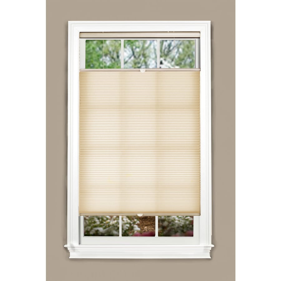 allen + roth 57.5-in W x 72-in L Alabaster Light Filtering Cellular Shade