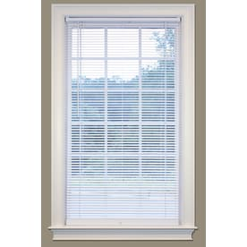 Safetrac 1 In Cordless White Vinyl Room Darkening Mini Blinds