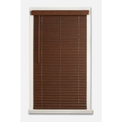 Cordless 2 Inch Faux Wood Blinds.2 In Cordless Dark Walnut Faux Wood Blinds Common 35 In Actual 34 5 In X 64 In