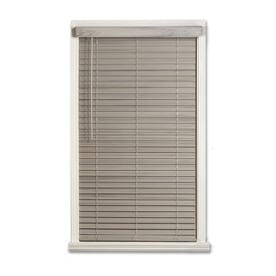 a + r 2-in Cordless Driftwood Gray Faux Wood Room Darkening Door Blinds Plantation  sc 1 st  Loweu0027s & Shop Blinds at Lowes.com pezcame.com