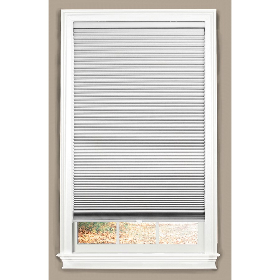 allen + roth White Blackout Cordless Polyester Cellular Shade (Common 59-in; Actual: 59-in x 64-in)