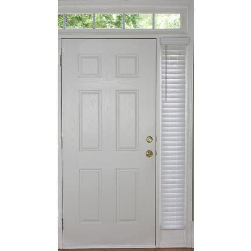Allen Roth Cordless Faux Wood 2 In Slat Width 9 In X 72 In Cordless White Faux Wood Room Darkening Faux Wood Blinds In The Blinds Department At Lowes Com