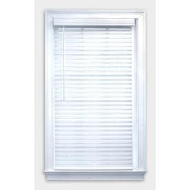 allen + roth 2-in Cordless White Room Darkening Faux Wood Blinds (Common: 23-in; Actual: 22.5-in x 42-in)
