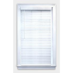 allen + roth 2-in Cordless White Faux Wood Blinds (Common: 23-in; Actual: 22.5-in x 64-in)