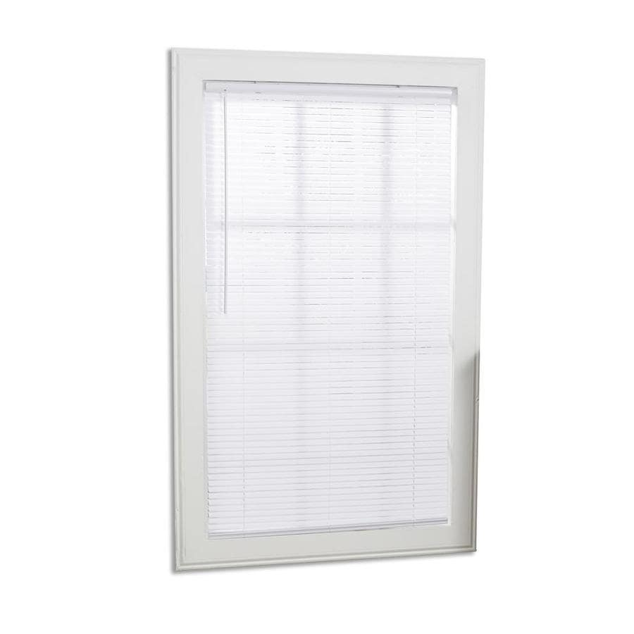Shop Project Source 1 In Cordless White Vinyl Mini Blinds