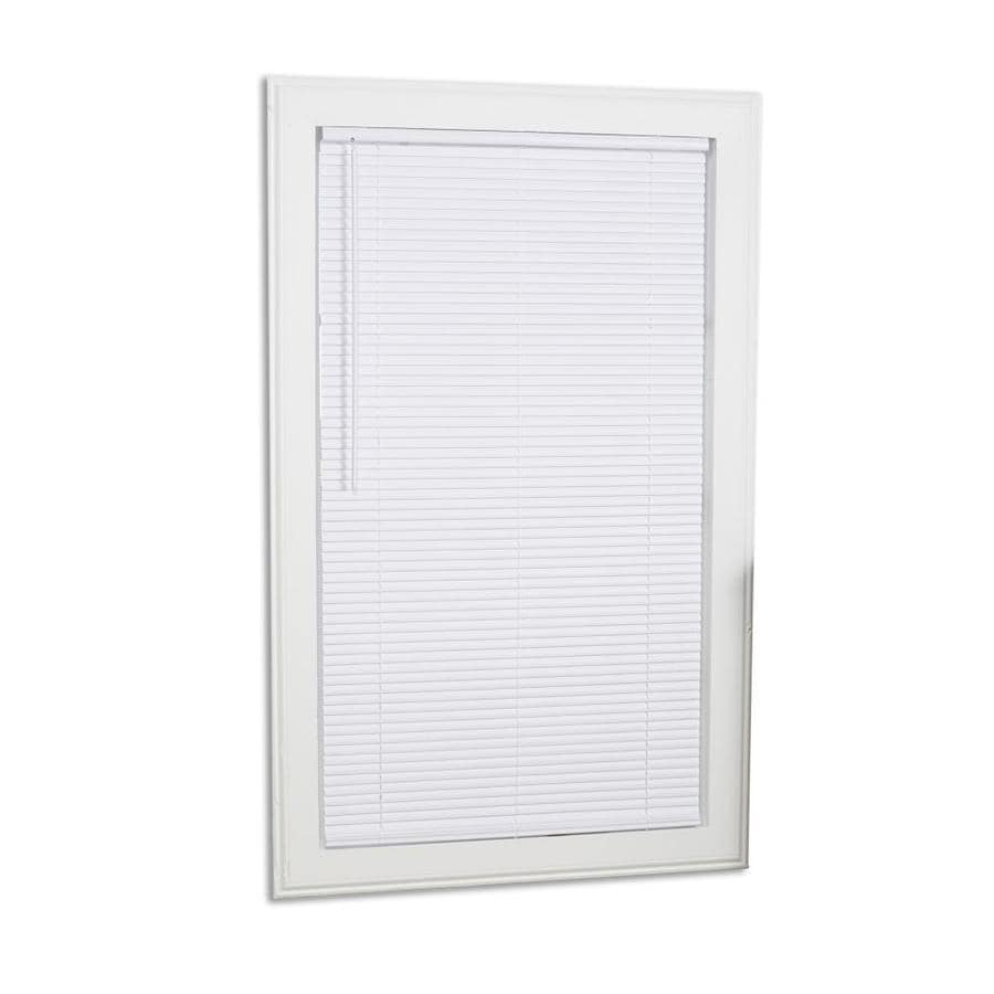 Project Source 1 In Cordless White Vinyl Mini Blinds