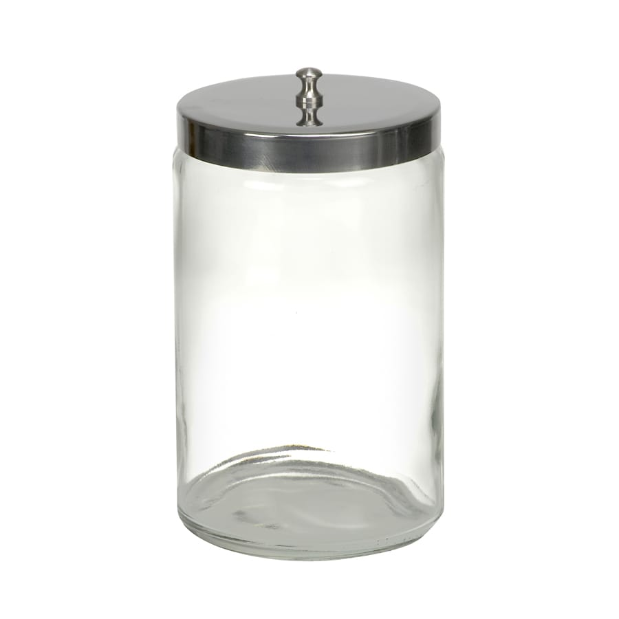 MABIS Stor-A-Lot Clear Glass Bathroom Canister