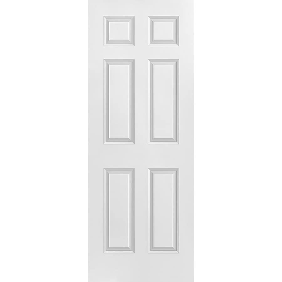 Masonite 36 In X 84 In Primed 3 Lite Equal Solid Wood: Masonite Slab Door Primed 6-Panel Solid Core Molded