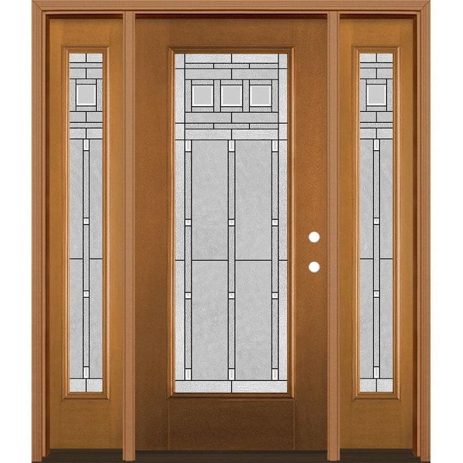 Masonite Craftsman 64 In X 80 In Fiberglass Full Lite Left Hand Inswing Woodhaven Stained Prehung Single Front Door Brickmould Included In The Front Doors Department At Lowes Com Find fiberglass exterior doors at lowe's today. masonite craftsman 64 in x 80 in