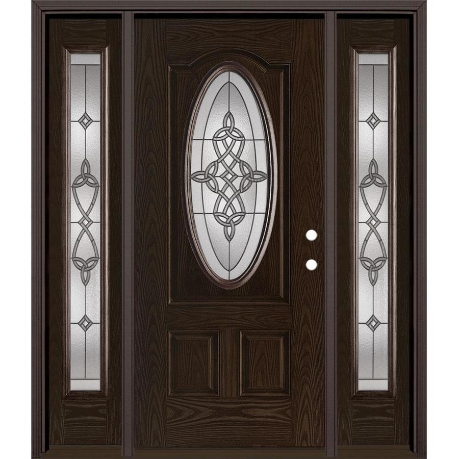 Masonite Dylan Oval Lite Decorative Glass Left Hand