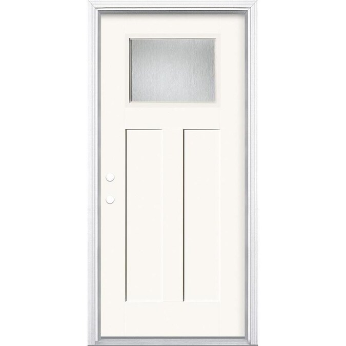 Masonite Chord 36 In X 80 In Fiberglass Craftsman Right Hand Inswing Modern White Painted Prehung Single Front Door Brickmould Included In The Front Doors Department At Lowes Com Alibaba.com offers 1,133 lowes exterior fiber glass door products. masonite chord 36 in x 80 in fiberglass craftsman right hand inswing modern white painted prehung single front door brickmould included