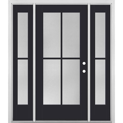 Black Modern Front Doors At Lowes Com It's easy to install weatherstripping on exterior home doors using nails or screws to secure wood and hold aluminum thresholds in place. black modern front doors at lowes com