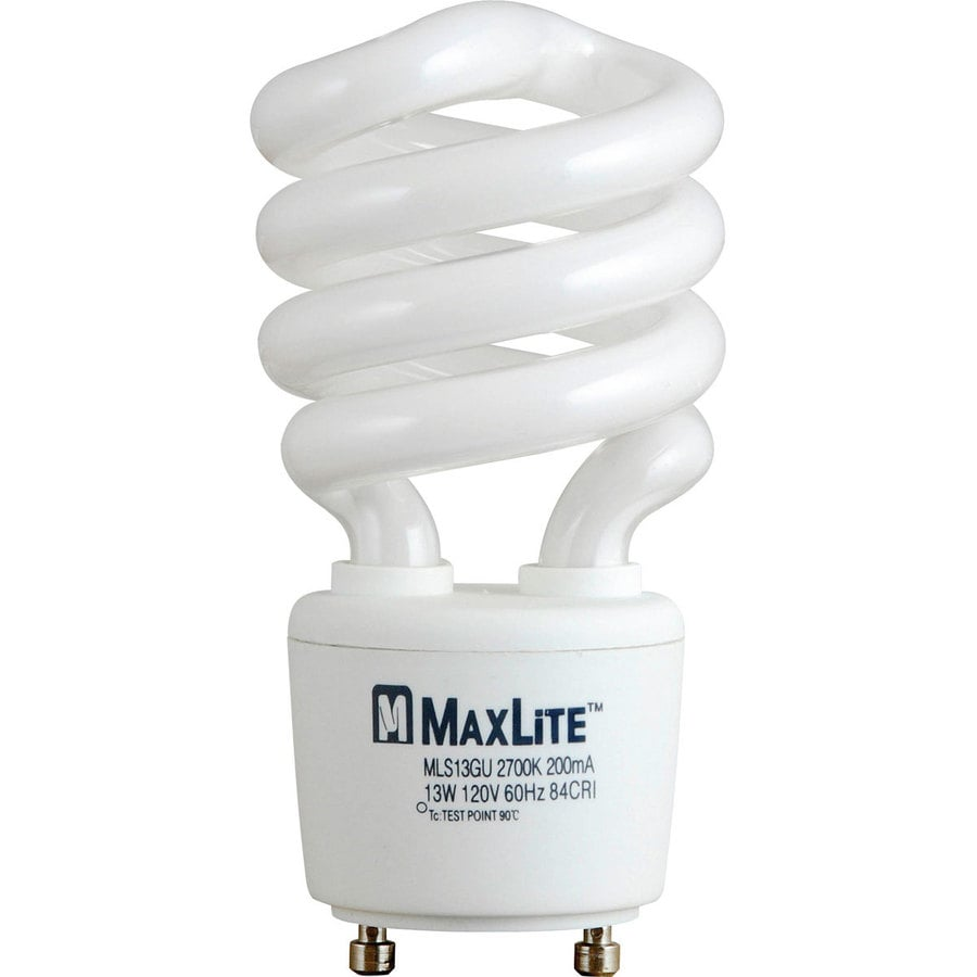Shop Maxlite 60 W Equivalent Soft White Spiral Cfl Light Fixture Light Bulb At