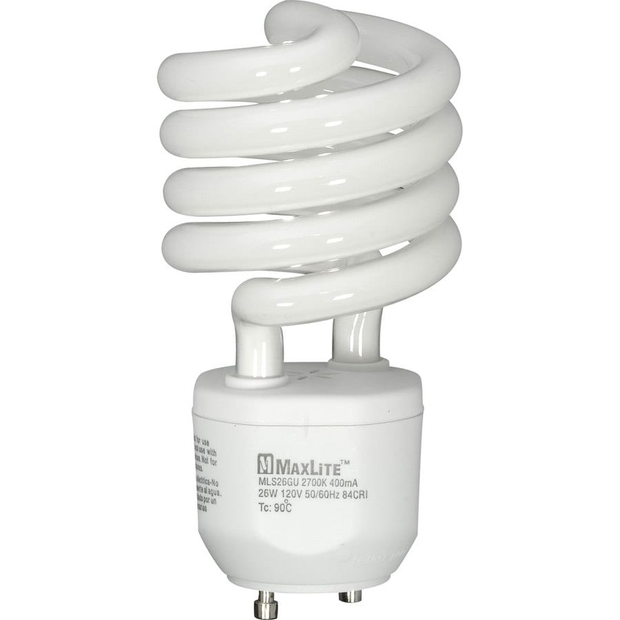 MAXLITE 100 W Equivalent Soft White Spiral CFL Light Fixture Light Bulb