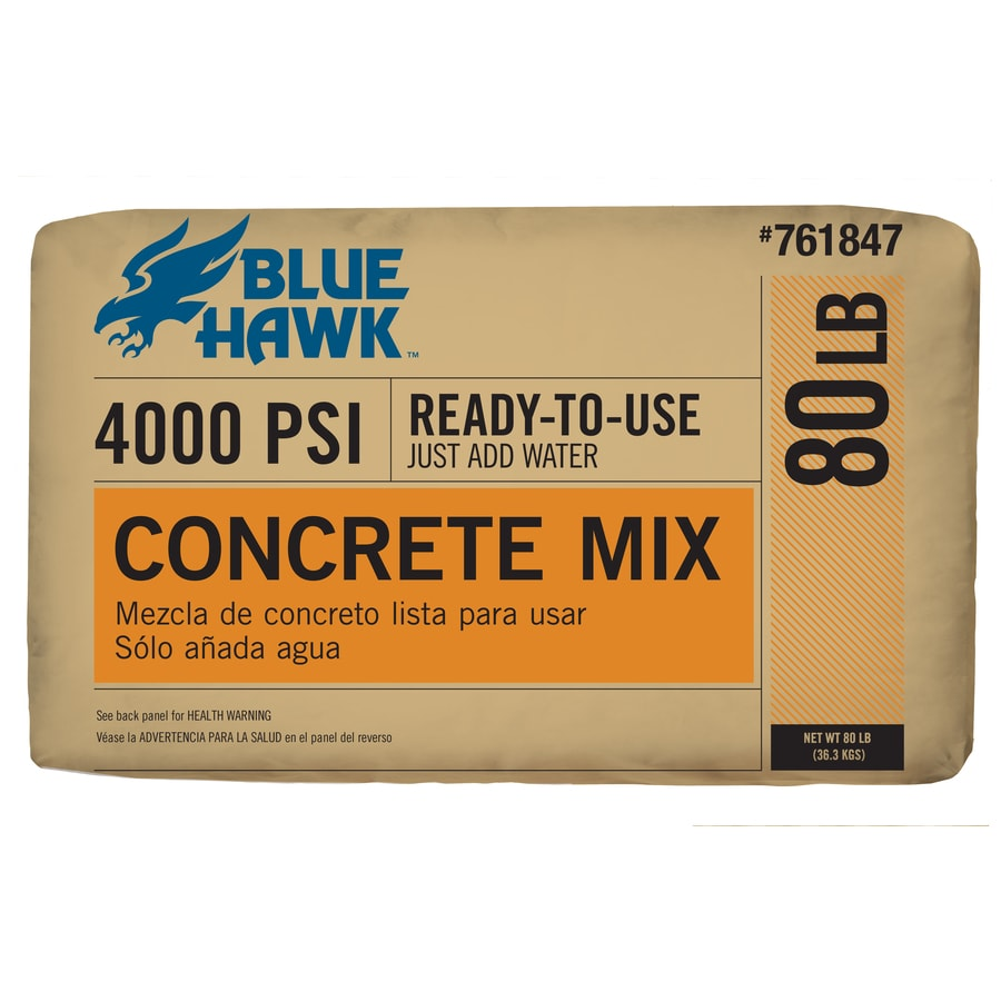 Blue Hawk 80-lb Gray High Strength Concrete Mix