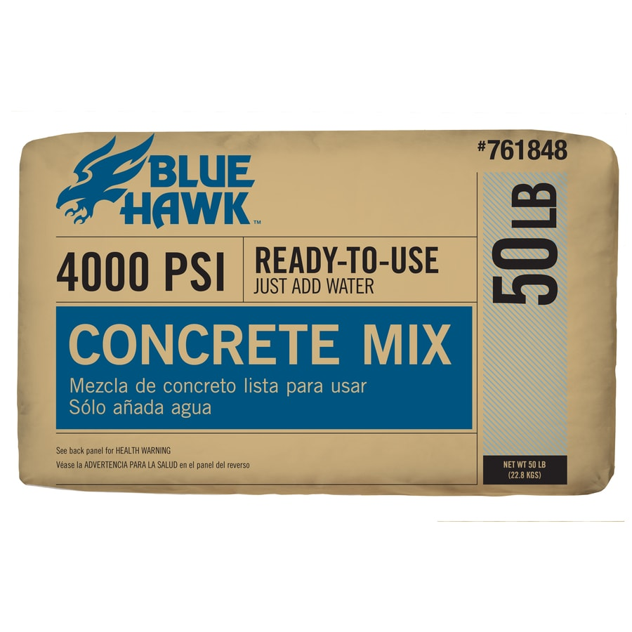 Blue Hawk 50-lb Gray High Strength Concrete Mix