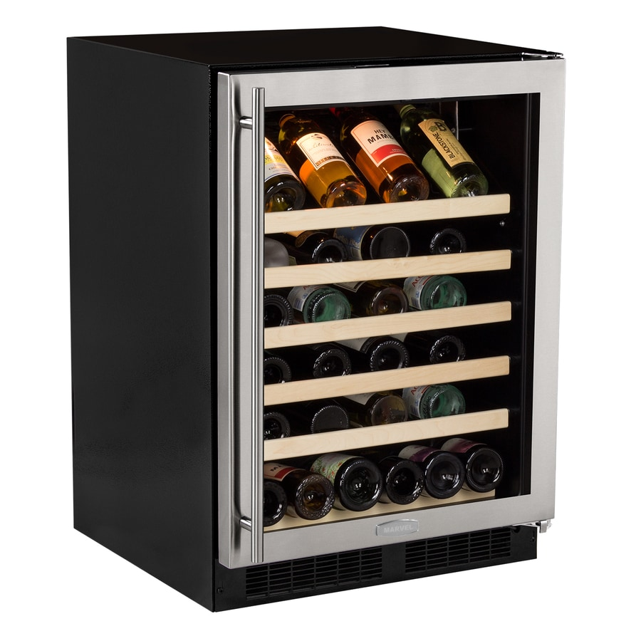 MARVEL 45-Bottle Stainless Steel Wine Chiller