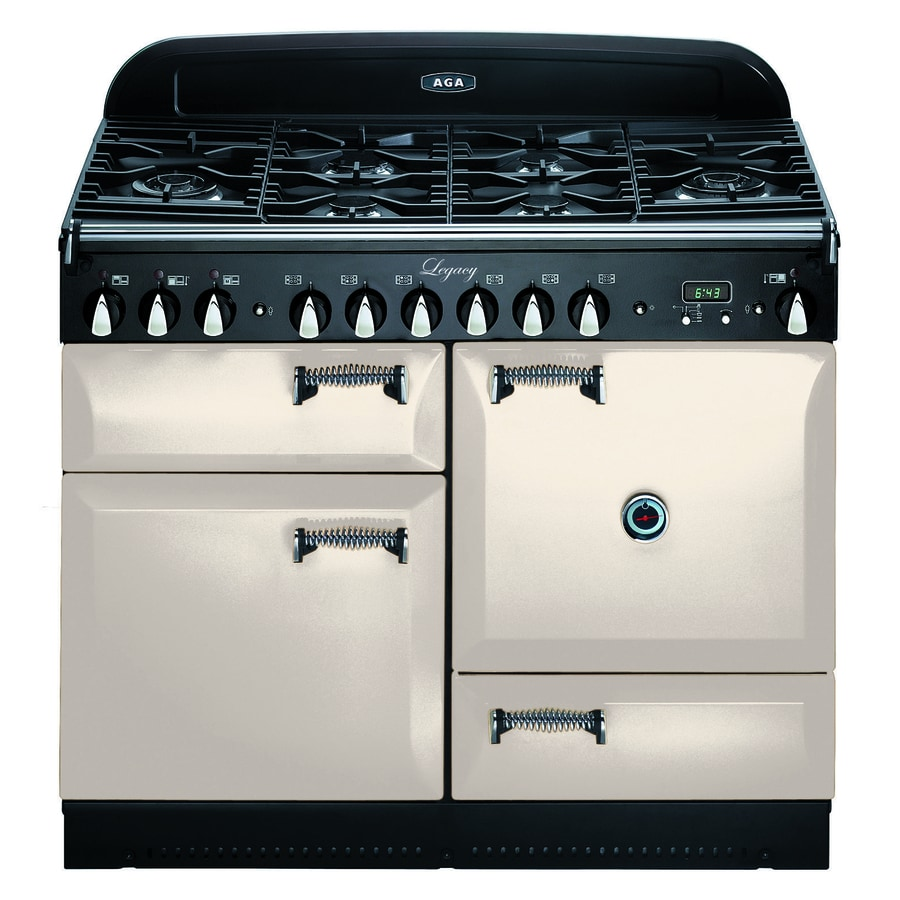 AGA Legacy 44-in 6 2.4-cu ft/2.4-cu ft Double Oven Convection Dual Fuel Range (Ivory)