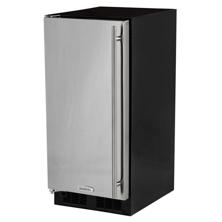 MARVEL 7-lb Left-swing Freestanding/Built-In Ice Maker (Black cabinet and stainless steel door)
