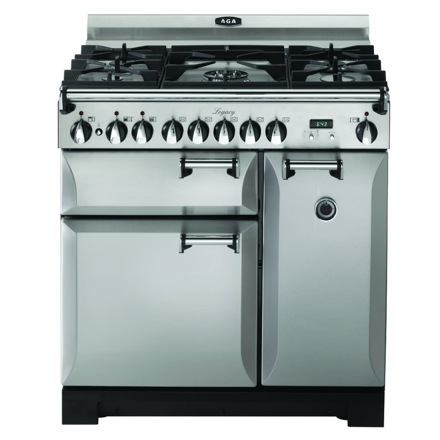 AGA Legacy 36-in 5 2.2-cu ft/1.8-cu ft Double Oven Convection Dual Fuel Range (Stainless steel)