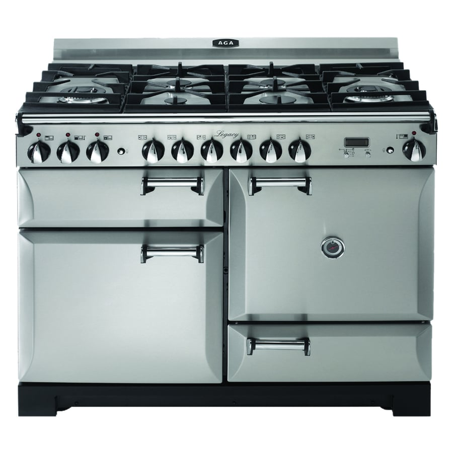 AGA Legacy 44-in 6 2.4-cu ft/2.4-cu ft Double Oven Convection Dual Fuel Range (Stainless steel)