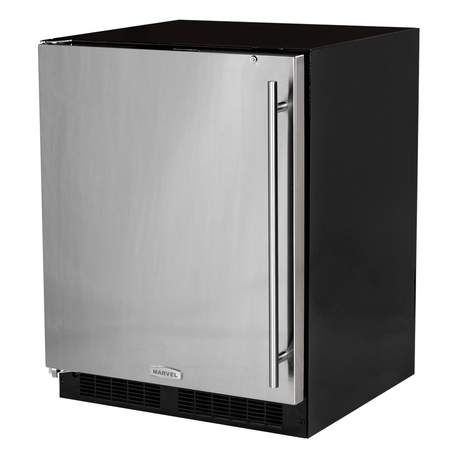 MARVEL Low Profile 4.7-cu ft Counter-Depth Built-In/Freestanding Compact Refrigerator (Stainless Steel) ENERGY STAR