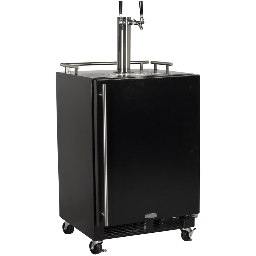 MARVEL Half-Barrel Keg Black Digital Freestanding Kegerator