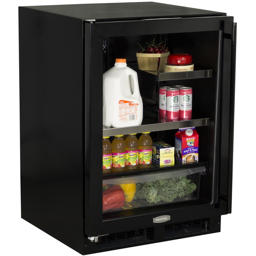 MARVEL 5.5-cu ft Black Built-In/Freestanding Beverage Center