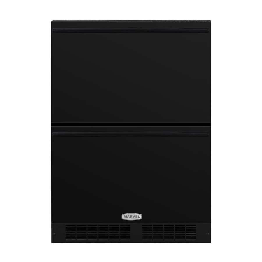 MARVEL 23.875-in Built-In/Freestanding Double Drawer Refrigerator (Black) ENERGY STAR
