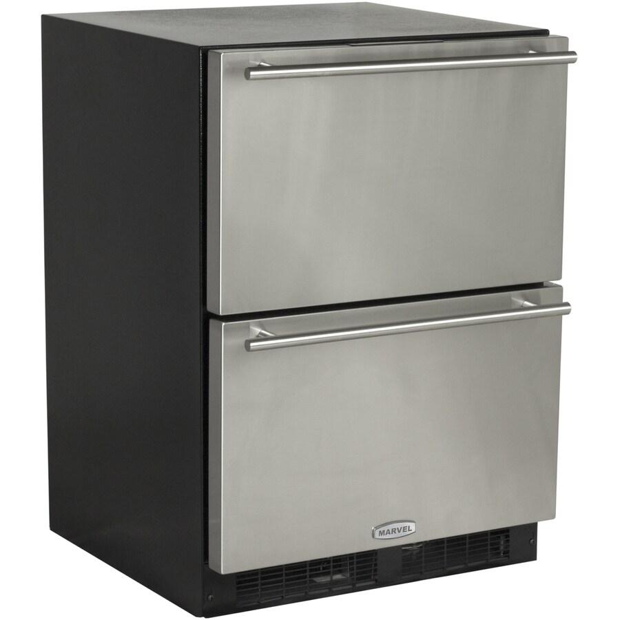 MARVEL 23.875-in Built-In/Freestanding Drawer Refrigerator (Black) ENERGY STAR