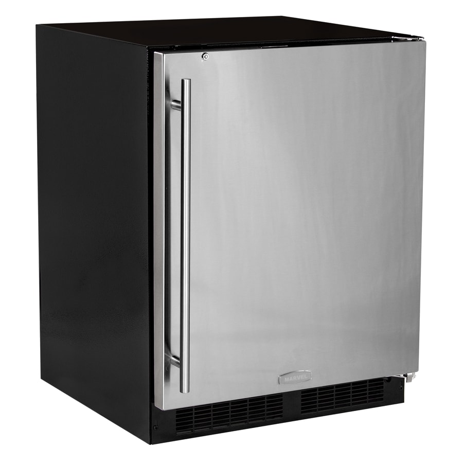 MARVEL Low Profile 4.6-cu ft Counter-Depth Built-In/Freestanding Compact Refrigerator (Stainless Steel) ENERGY STAR